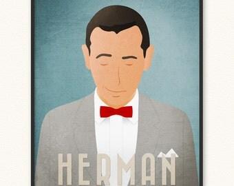 Pee-wee Herman • Minimalist Portrait Poster • Choose Style • Art Print • Rebel Loner Paul Reubens