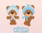 Custom Order for Karen:  Winter Premade Scrapbook Paper Piecings