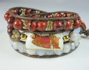 Wrap Bracelet, Gemstone, Wraparound bracelet, 3 Wrap bracelet