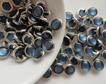 NEW COLOR Navy Blue (25) Pearl Snap Sets  4 Part Prong Size 16