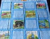 Little Engine That Could Storybook Quilt Top Fabric Panel