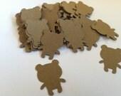 Teddy bear confetti, bear confetti, kraft teddy bear confetti (100 count)