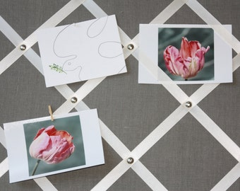2X2 linen ribbon bulletin/memo board