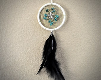 Dream Catcher for Car- Ocean Turquoise with Star fish