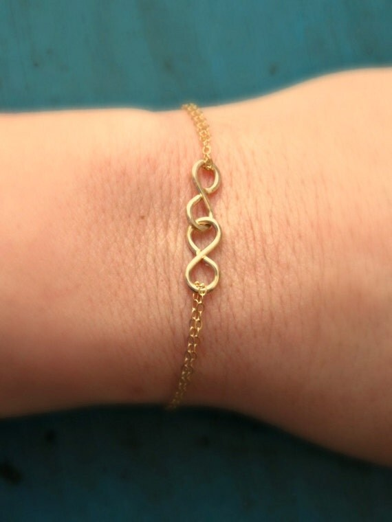 Gold Double Infinity Bracelet