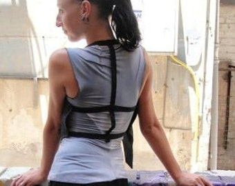 Black Woman Vest, One Size Vest, Cut Out Vest,