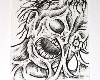 Zombie ACEO Original