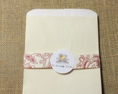 25 Ivory Cream 6x9 Paper Gift Bags, Merchandise Bags, Favor Bags, Weddings, Showers, Birthdays, Treats