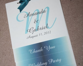 Simple Wedding Program - vertical tabbed
