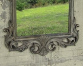 Handpainted Old World Finish Shabby Chic Mirror