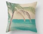 Pillow cover, beach pillow, beach decor, aqua pillow, mint pillow, turquoise pillow, beach art, couch pillow, pastel color, blue pillow