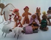 10 pc Gingerbread Clay Nativity
