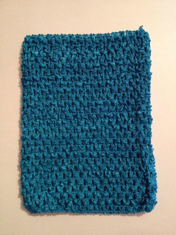 "Aqua 8"" Crochet Tube Top for Tutu Dresses"