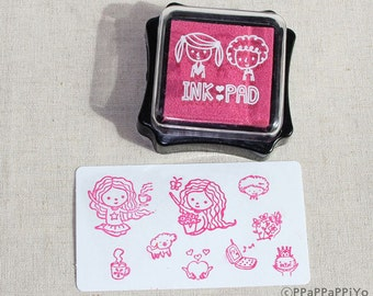 Pink ink Pad for rubber stmap