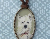 Custom Hand painted necklace with your pet