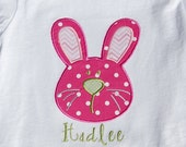 Easter Bunny Short or Long Sleeve Onesie or Shirt with Personalization