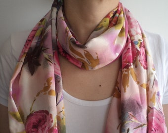 İnfinity Scarf, Floral İnfinity Scarf, Infinity Scarves, Fashion Scarf, Scarves, Circle Scarf, Cotton Scarf, For Her Gifts, Gift İdeas