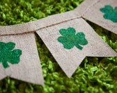 St Patricks day burlap banner - Shamrocks - St Pattys day - Irish - kiss me banner - butterflyabove