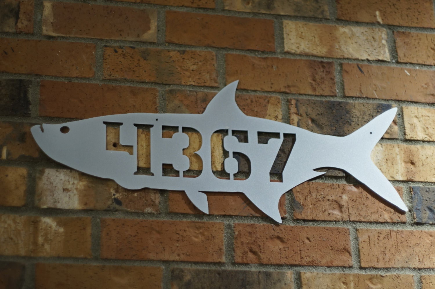 Fish house number / arpon house number / by GlamorousFindings - ^