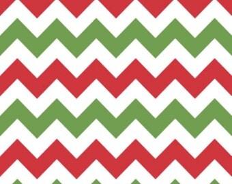 Medium Chevron Christmas by Riley Blake Designs Half Yard Cut