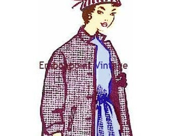 Plus Size (or any size) Vintage 1949 Jacket Sewing Pattern - PDF - Pattern No 58 Lee