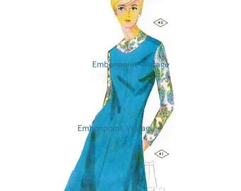 Plus Size (or any size) Vintage 1969 Dress Pattern - PDF - Pattern No 41 42 Alison