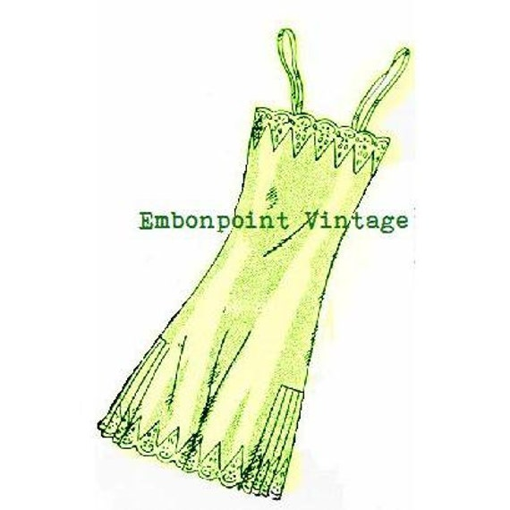 Plus Size (or any size) 1934 Vintage Step-in Slip Sewing Pattern - PDF - Pattern No 23 Leola