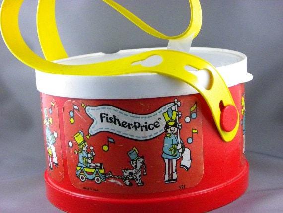 vintage fisher price drum. Black Bedroom Furniture Sets. Home Design Ideas