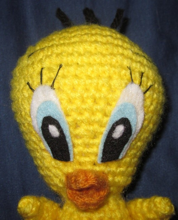 Amigurumi Tweety Bird : PATTERN: Tweety Bird Amigurumi crochet doll by JNArts on Etsy