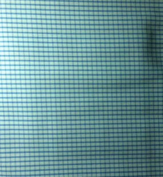blue check fabric little boy blue nashville cottonfabric by