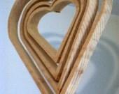 Hanging Wooden Heart Chandelier