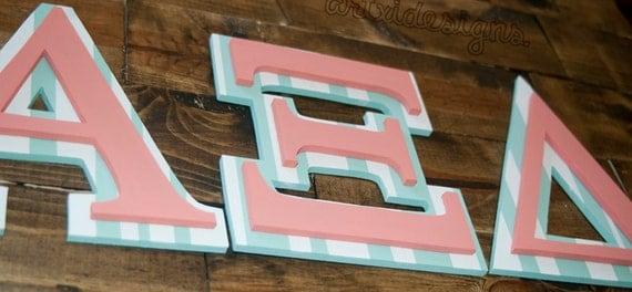 """Delta Delta Delta Wooden Letters Wooden 7"""" greek alpha xi delta"""