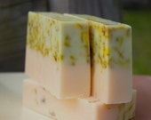 Lemongrass, Orange, Ginger Soap, Calendula Herbal Oil, Calendula Petals, Summer Sun, 4oz