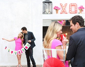 Instant Download - Modern + Bright Valentine's Day Party Printables for celebrity Lauren Conrad