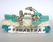 Personalized bracelet,anchor bracelet,name bracelet.90.