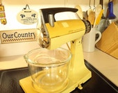 Vintage Glasbake Sunbeam Mixmaster Mixer Clear Bowl