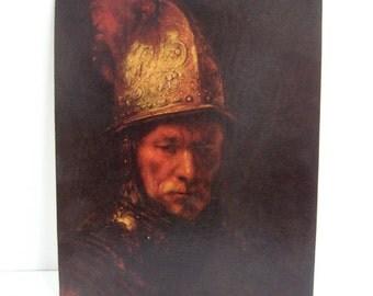 Vintage Art Print Man in the Golden Helmet