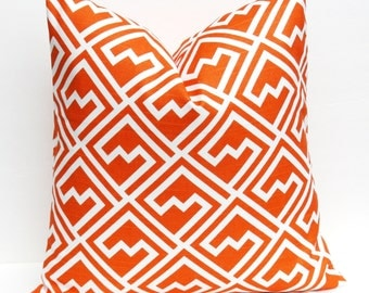 Decorative Pillow - Pillows - throw Pillow Cover - Orange Pillow - orange Pillow Cover - Pillow Covers - Accent Pillows - Cushion Cover