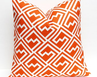 Decorative Pillows - Orange Pillow - Orange Pillow cover - Throw Pillow covers - Throw Pillows - {