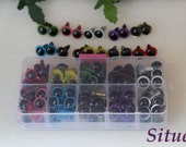 Kit of 12mm  Color Safety Eyes  for crochet doll totally 50 pairs