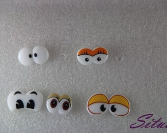 5-types Cartoon eyes Safety eyes for Amigurumi and Doll- 1 piece(pair) for each type