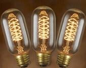 3-Pack Edison Bulbs for Edison Lamp - Tubular Vintage Spiral Filament 40-watt - T14