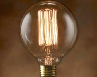 5-Pack Nostalgic Edison Bulbs - Globe Style Vintage 40-watt - Light - Lamp - Coffee Table - Edison - Steampunk Bulb