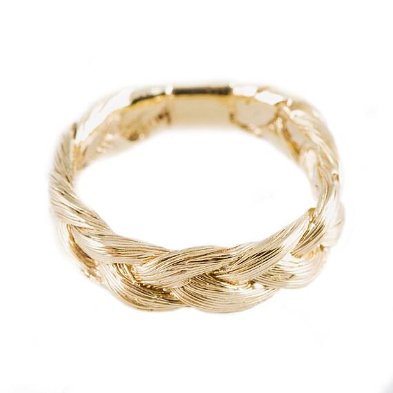 Magnitude Plait - ring (golden blond)