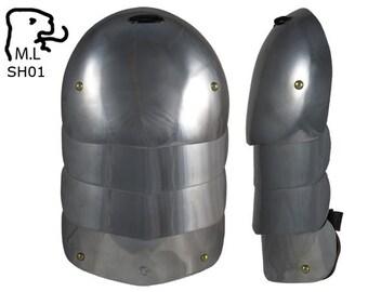 New pair of Medieval pauldron Warrior stainless steel Armor Larp SH01