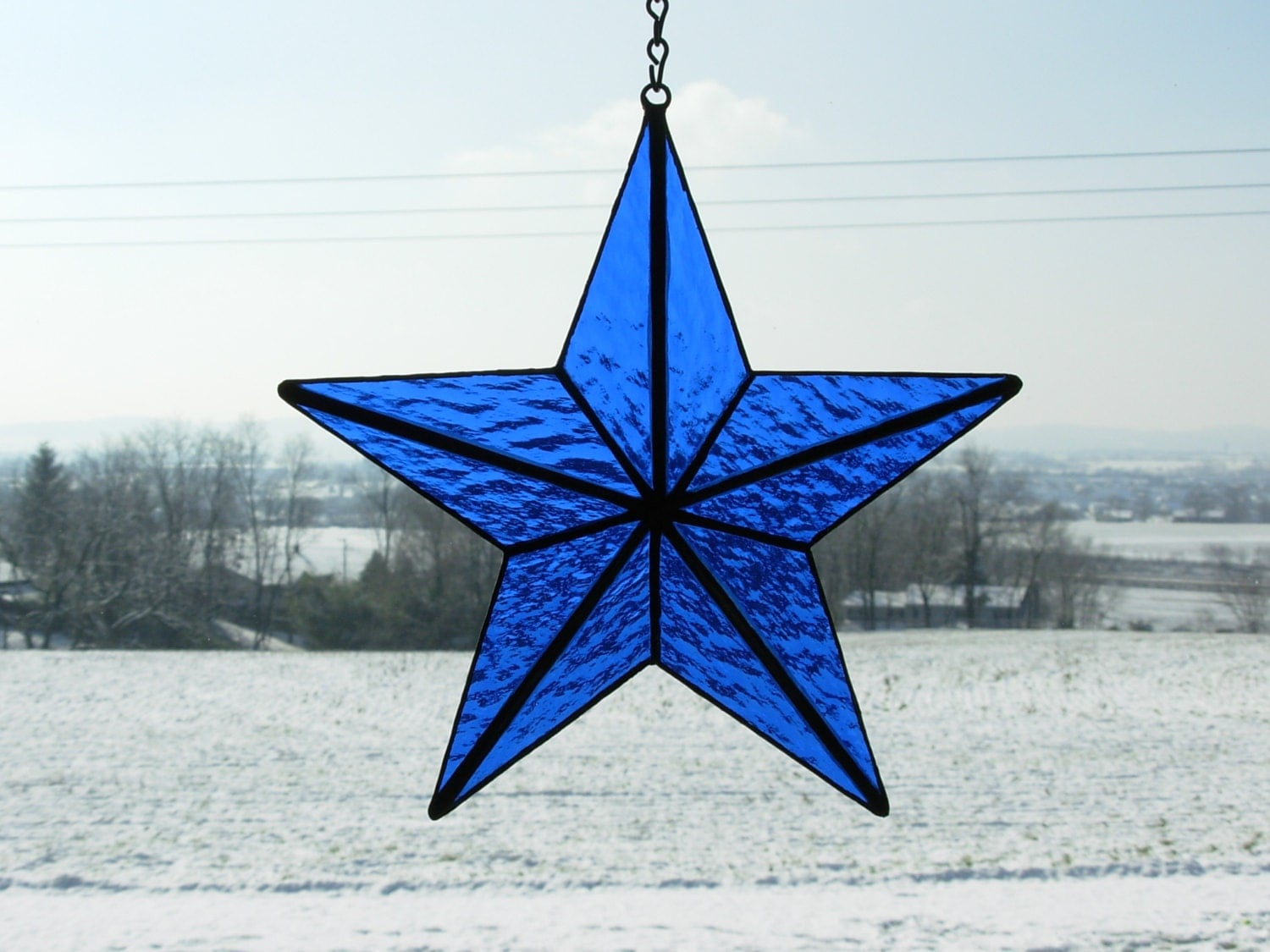 Christmas Tree Topper And/or Window Display 3D Star In By