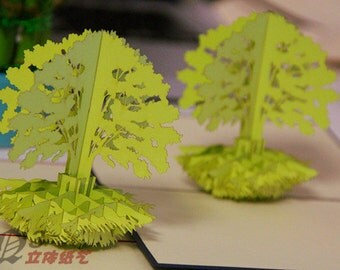 Trees in Pop up card
