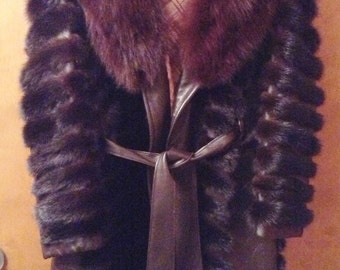 Mink and leather coat from the 70's.