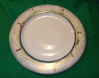 "Two (2), 11"" Dinner Plates, from Oneida, in the, By The Sea, Pattern"