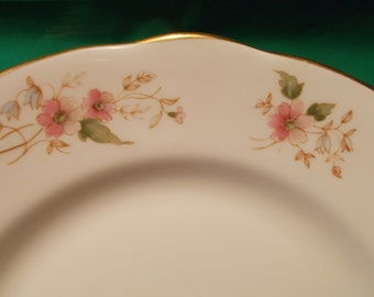 """Two (2), 8 1/4"""" Bone China, Salad Plates, from Duchess China, in the Glen 316 Pattern."""